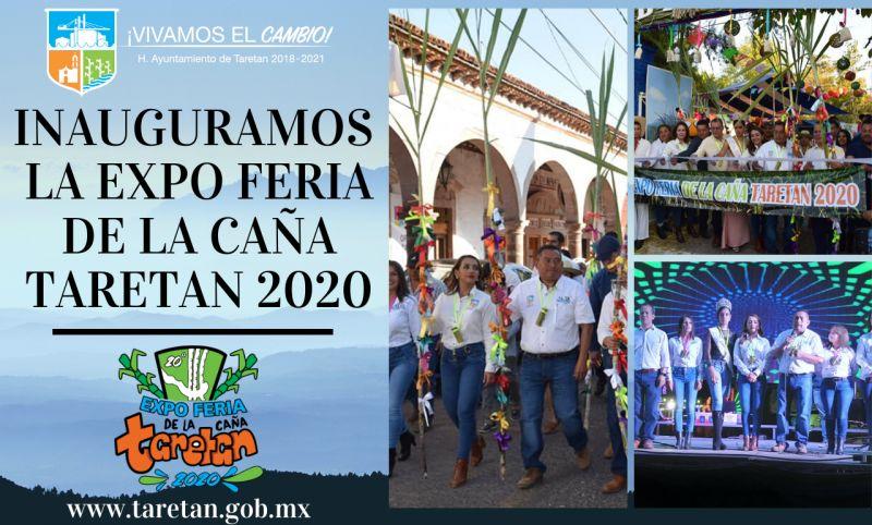 inauguramosla Expo Feria de la Caña Taretan 2020