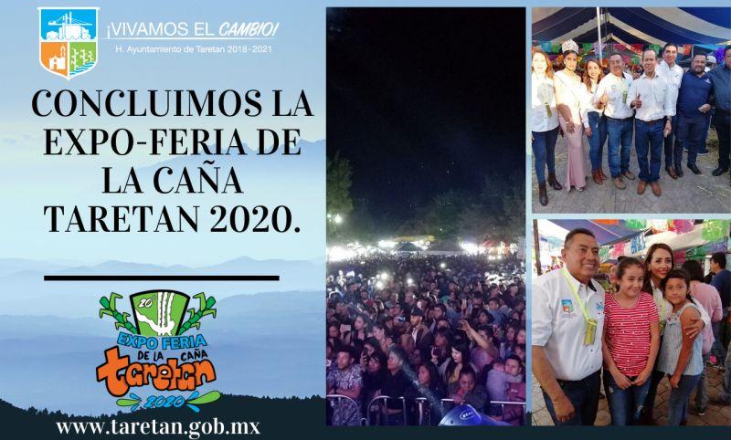 Concluimos la Expo-feria de la Caña Taretan 2020.